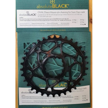 Corona Absolute Black Oval SRAM DM Boost Offset HG+ Ring
